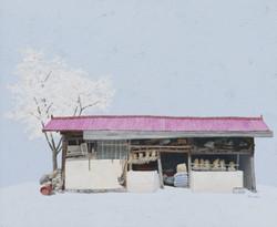 김용일, 만기네 광, 60.6x72.7cm, acrylic on canvas, 2017