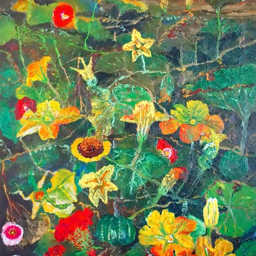 013, 민해정수, 할머니네 뒷마당, 91.0 x 116.8 cm, Oi