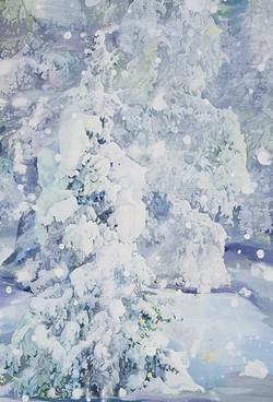001, 박계숙, 나르시스의 정원-겨울1, 116 x 72 cm, 아크릴