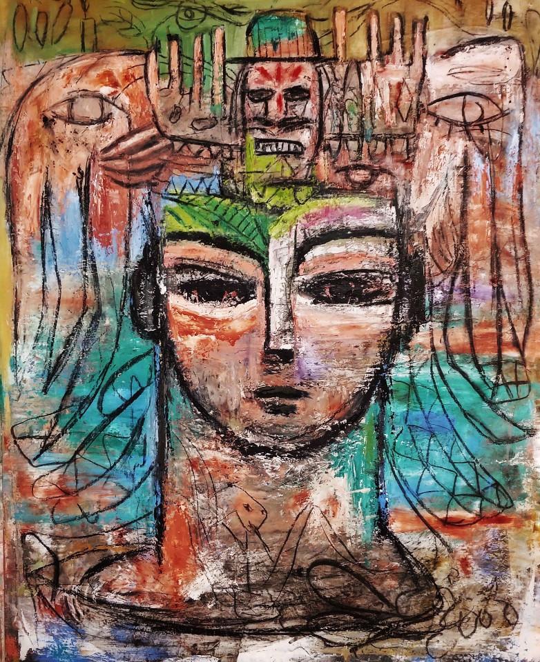 003, 최우, Head, 72.7 x 90.9 cm, oil, char