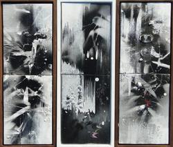 적벽강의 서정, 46x48cm, Acrylic on oil, 2016