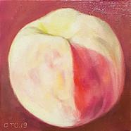 010, 복숭아, 20 x 20cm, oil on canvas, 2020
