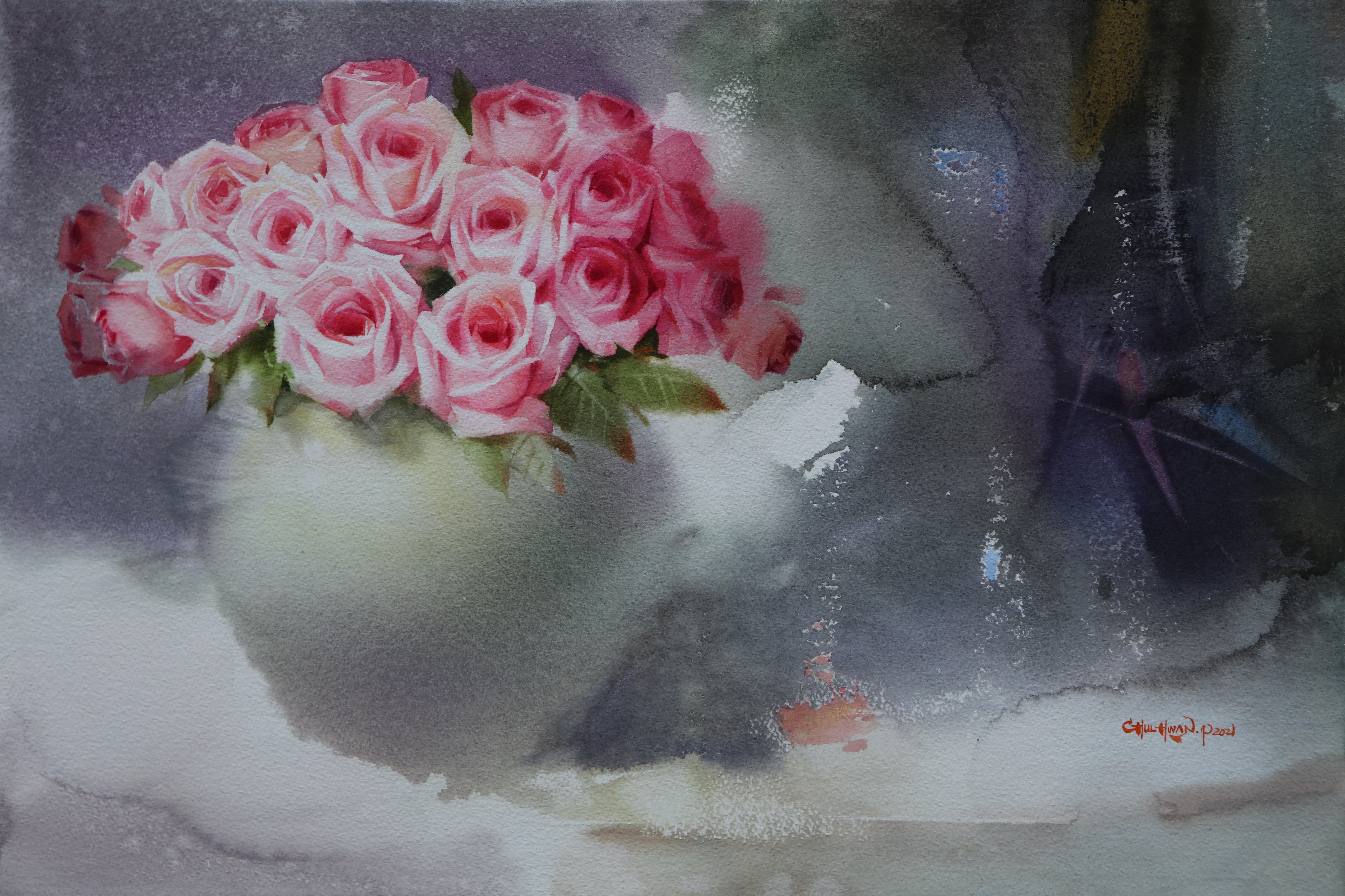 005, 박철환, Rose, 40.9 x 60