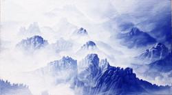 청산사유(설악산) 34cmx19cm 혼합재료2018