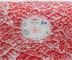 이경성001, 떨기나무-처음사랑 캔버스위에소멸침식법  45.5 x 33.4 2017 2