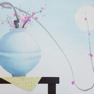 022, 오관진, 비움과 채움(복을담다), 61 x 73 cm, 한지에