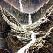 013, 자연-순환(폭포) 90x118cm canvas on acryli