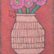 조수정, 016, 꽃을 담고..., 40.5 x 50.5 cm, 황마캔버