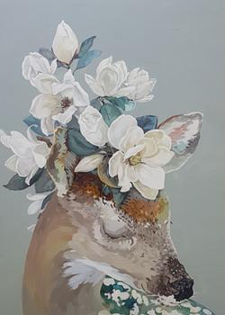 017, 박계숙, 나르시스의 정원-4, 90 x 65 cm, 아크릴에 캔