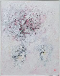 007, 김성호2, 사막의 여인 - 꽃, 36.5 x 46