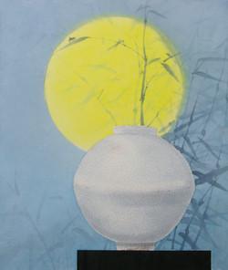 021, 오관진, 비움과 채움(복을담다), 53 x 45 cm, 한지에