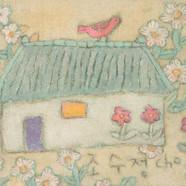 006, 조수정1, 봄은 사랑이다, 41.0 x 30.5 cm, 캔버스에