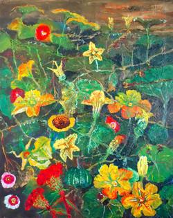 민해정수, 할머니네 뒷마당, 91.0 x 116