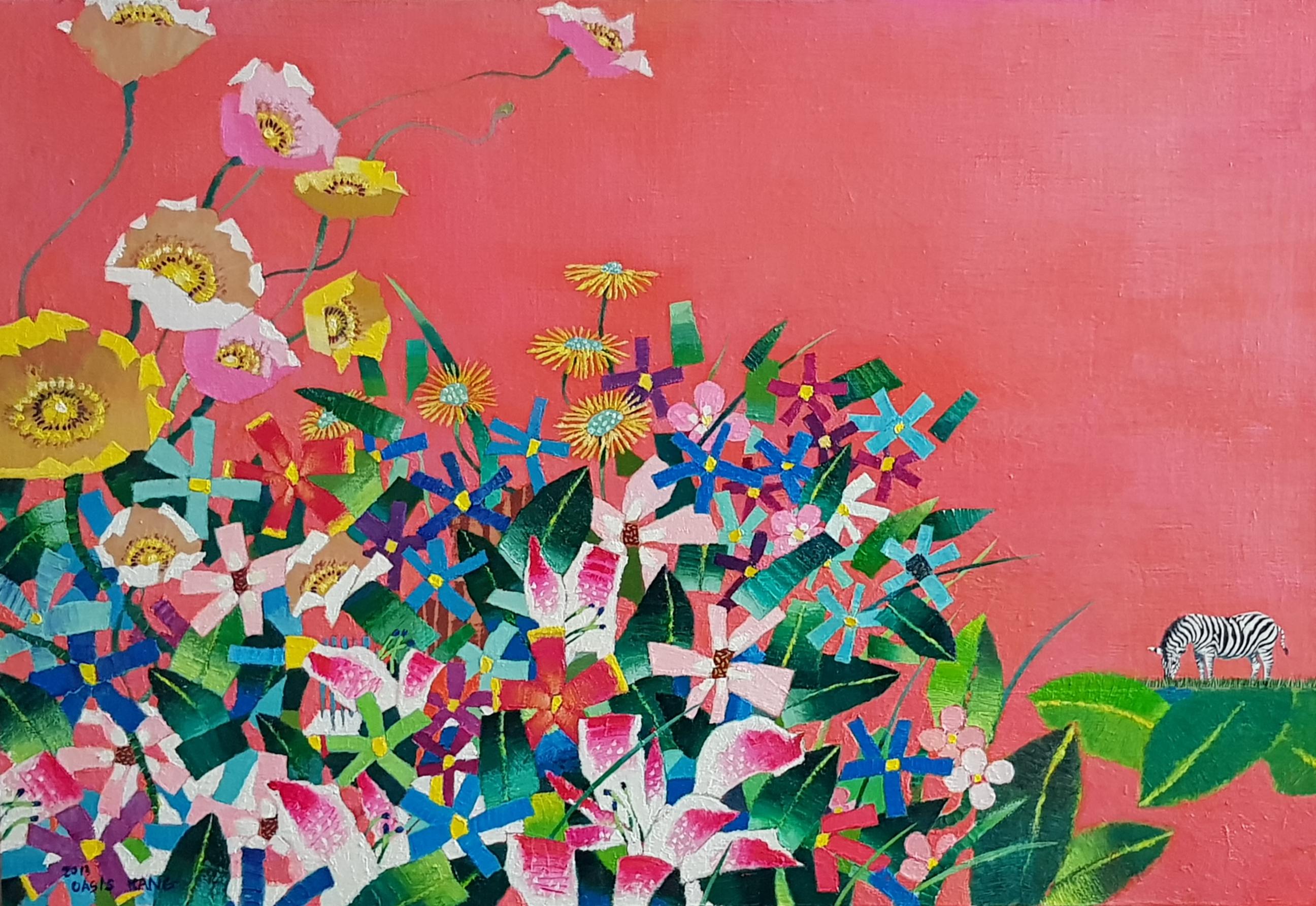 (강경화 4) _ Oasis-Zebra_72.7x50cm_Oil on Canvas_2013