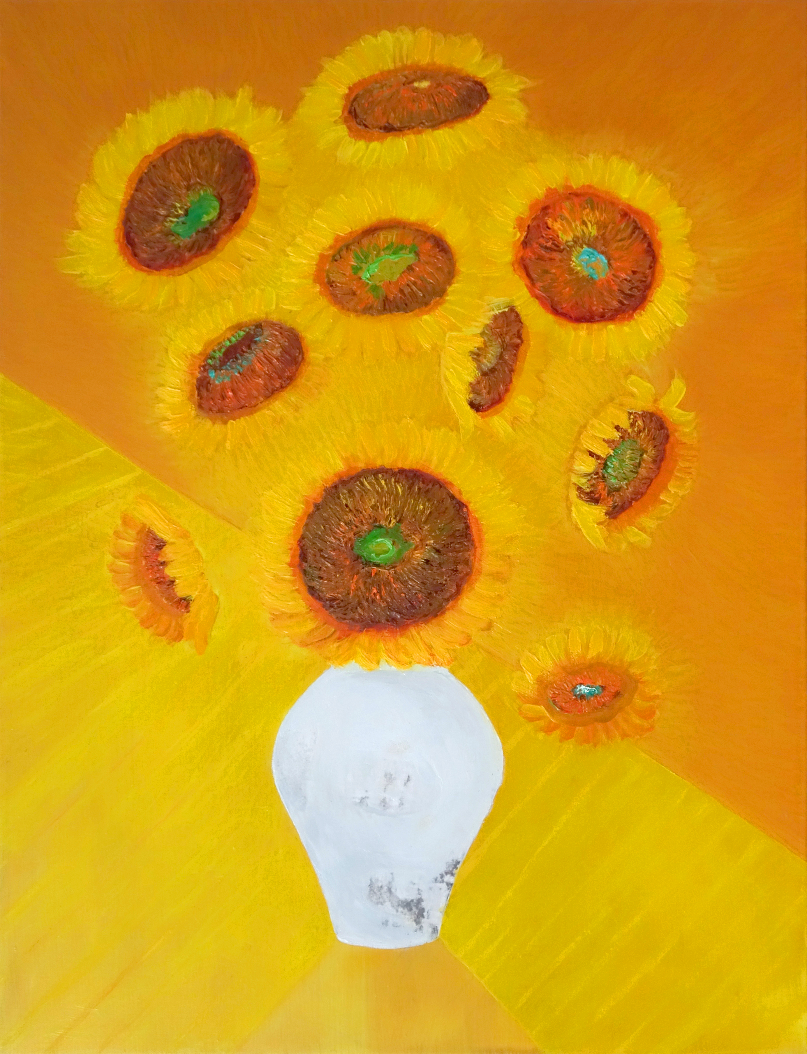 민해정수2, 해바라기, 53 x 65 cm, oil on canvas,