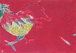 김재신, 닭, 81x59cm, 혼합재료, 2016