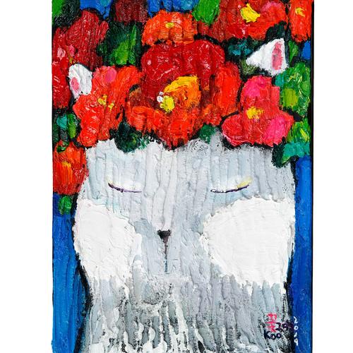 004, 꽃 그대, 15.8 x 22.7 cm, oil on canvas