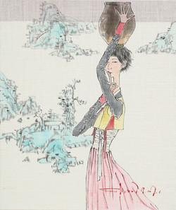 최경자6, 꽃순이2106, 47.5 x 40