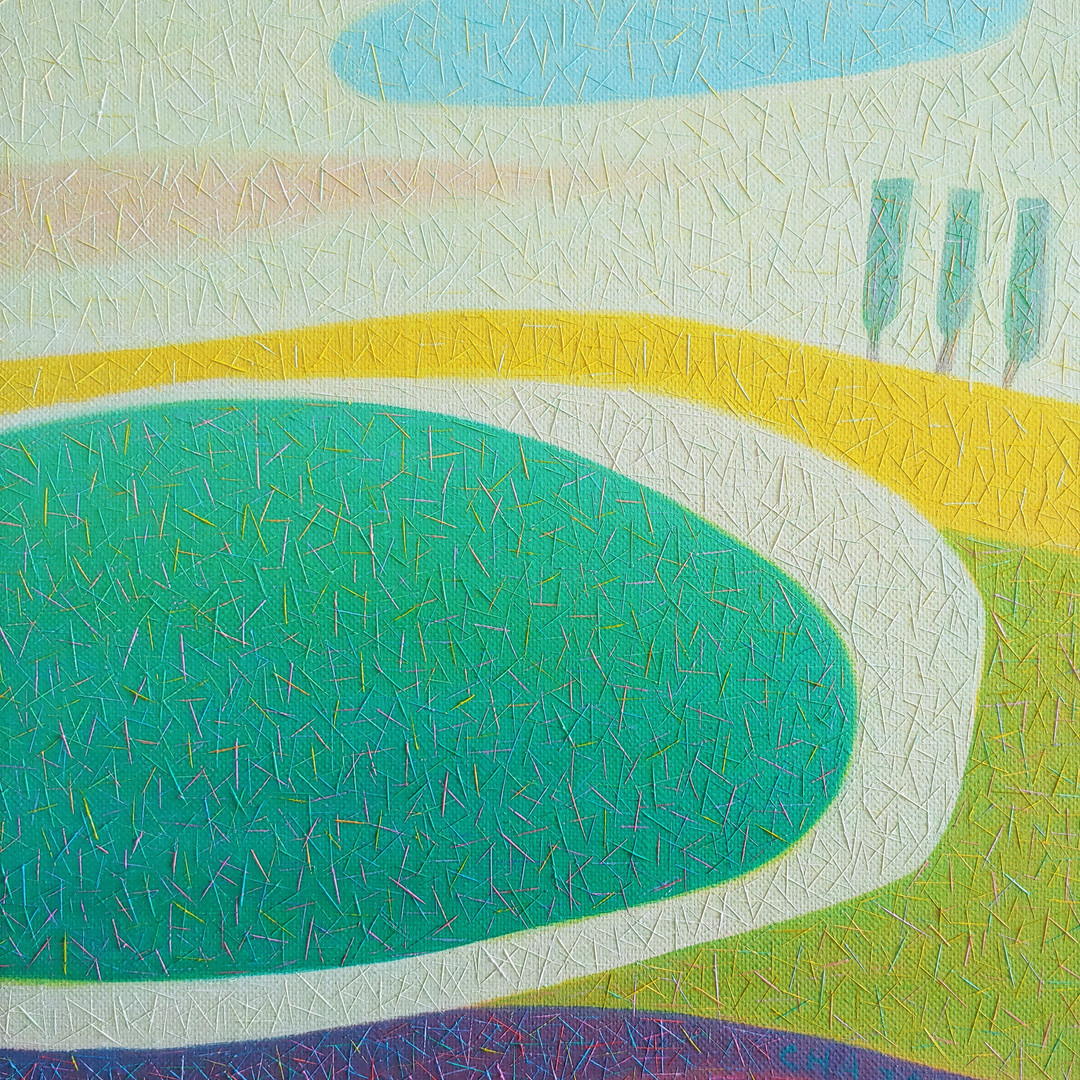 006, 차명주, 풍경, 27.3 x 34.8 cm, oil on can