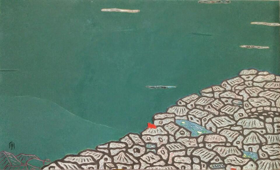 동피랑이야기, 97×61, 2017