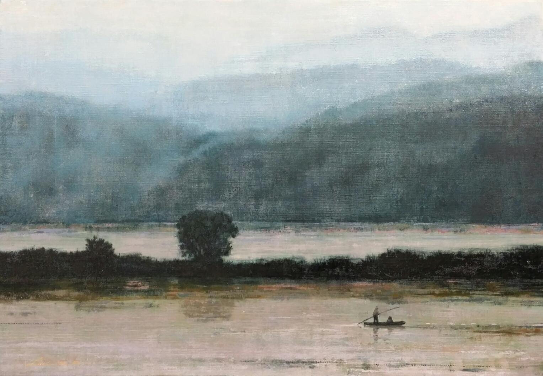 우포늪 이야기ㅡ흐르는 시간, 72.7× 50cm, oil on canvas, 2015