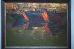 (최수란 4) _ 겐지스강,73x53cm-30호,,oil on canvas,2017