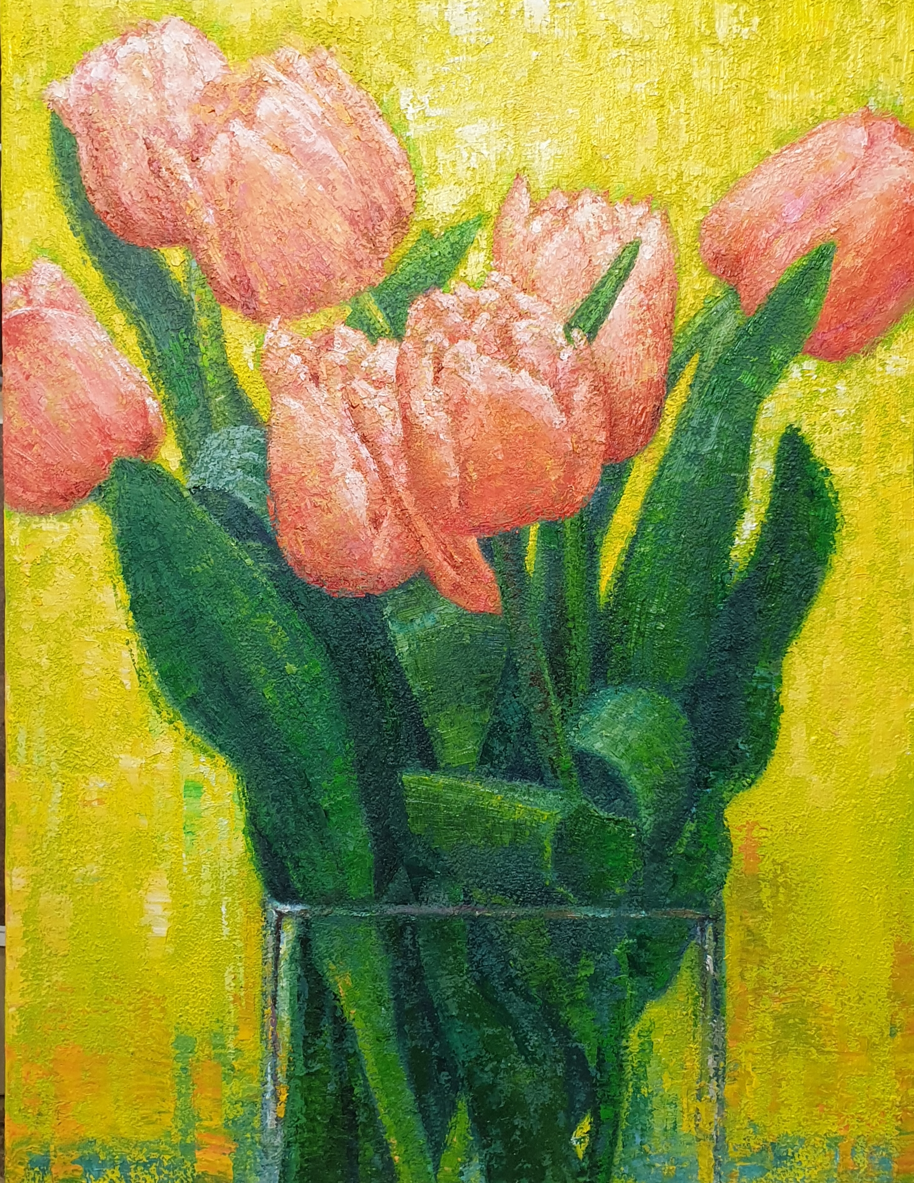 이미경, 튤립-매혹적인 사랑, 41 x 53 cm (10P), oil o