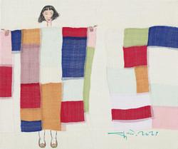 최경자5, 꽃순이2105, 40.0 x 47