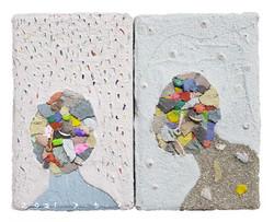 026, 김형길, 동행-2, 14.8 x 18.5 cm, 종이상자에 혼합재료, 2021, 40만원