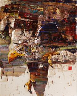 wild aura 2017 eagle 003, 162.2x130.3 cm, Oil on canvas, 2017