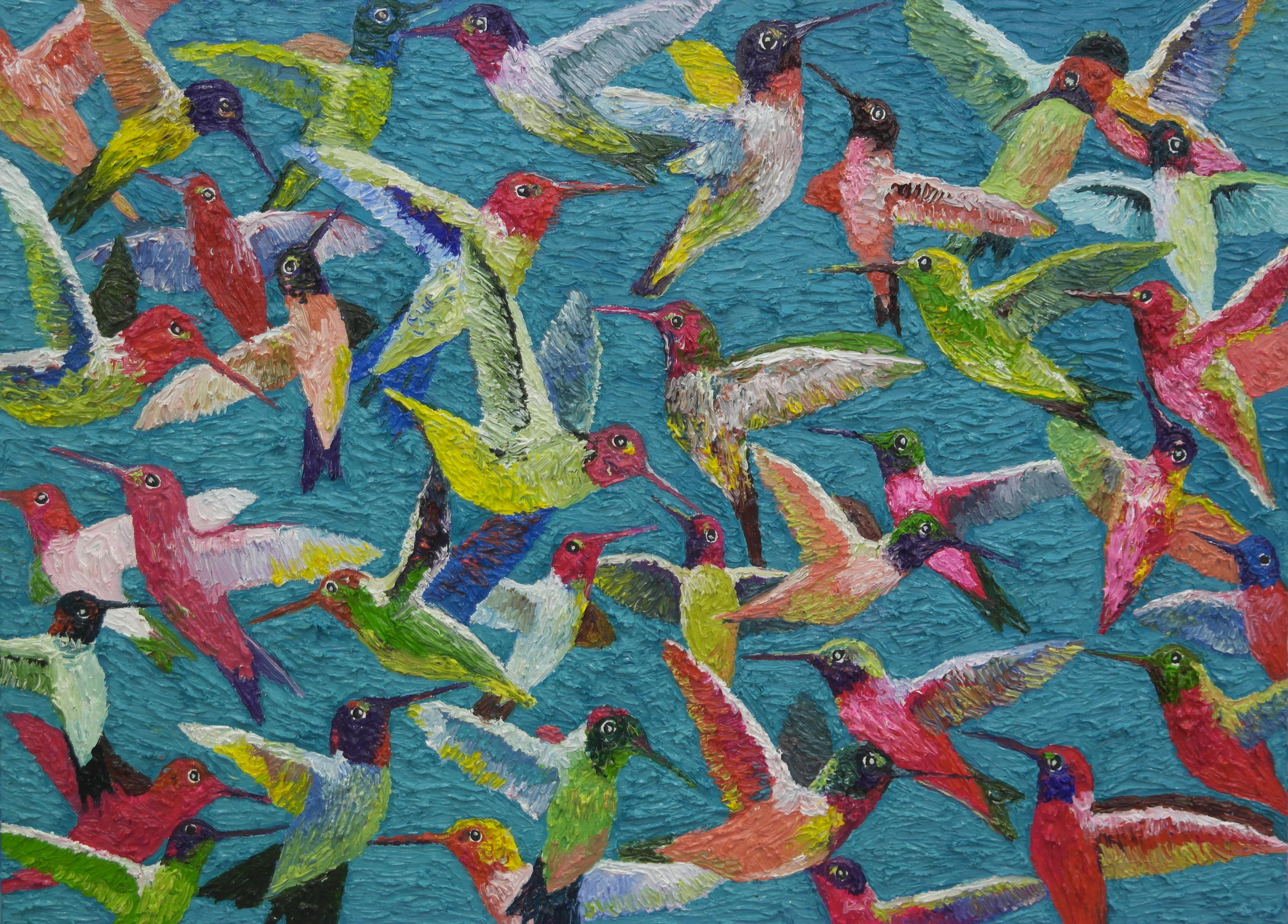 김인4, humminglife 72 x 53 cm, oil on canv
