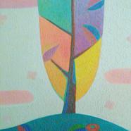 004, 차명주, 꽃지고 저무는 봄 2, 27.3 x 34.8 cm, o