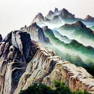 003, 자연-순환(북한산) 90x118cm canvas on acryl