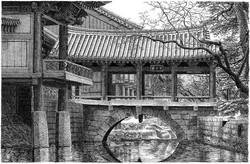 037, 안충기, 송광사, 54 x 35 cm, 종이에 먹펜, 2011,