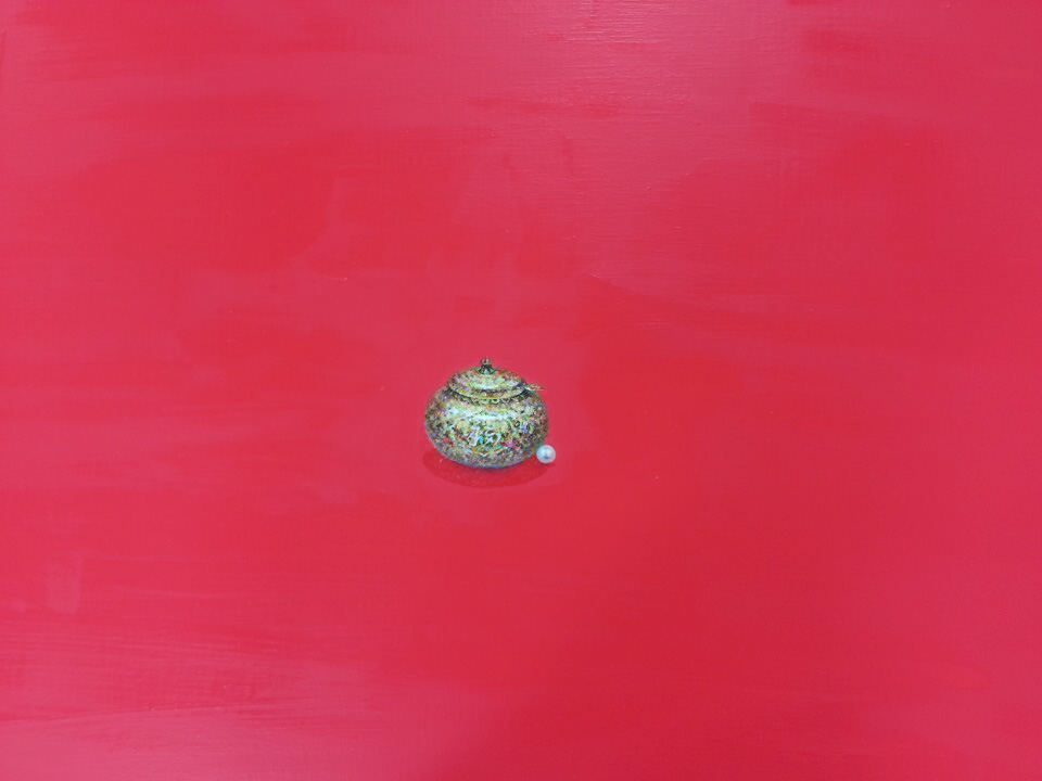 원빈홍씨 화장품그릇 (복) 72.7x60.6cm Acrylic on canvas 2017