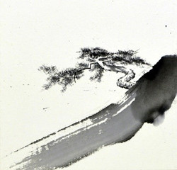 균형, 20x20cm, 화선지에 수묵, 2017