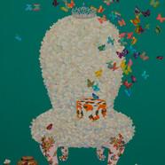 008 요술 꽃 의자 162x130.3cm Acrylic on canva