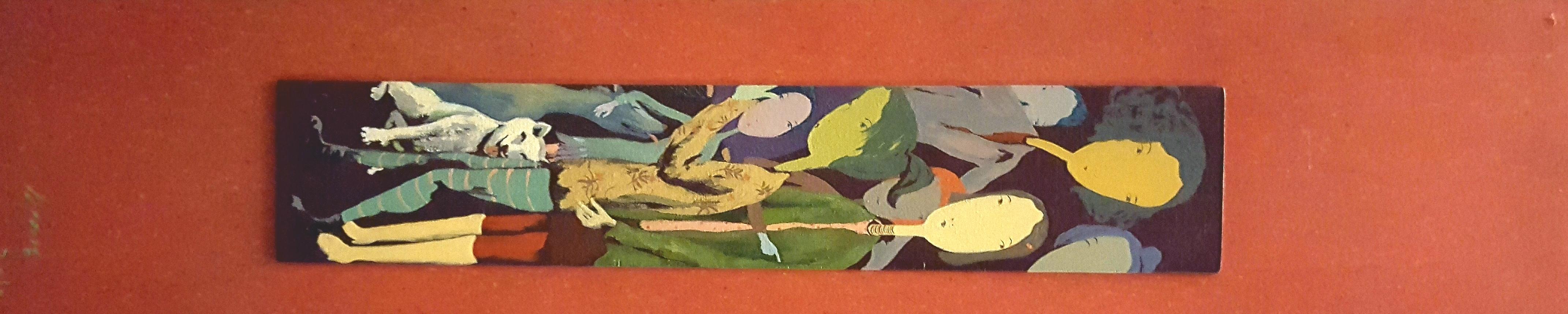 군상, 19.5x88.2cm, 목판에 아크릴, 2010