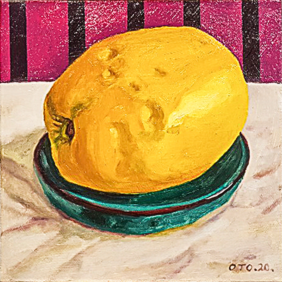 012, 모과2, 20 x 20 cm, oil on canvas, 202