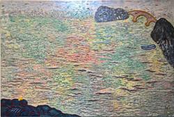 010, 김재신, 통영풍경, 92 x 61 cm (30호), 나무판 위에