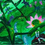 019 민해정수, 여름(1), 111.8 x 31.8 cm, acryli