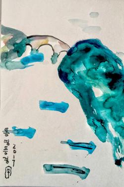 통영풍경, 24.2x33.4cm, 캔트지에 수채화물감, 2017