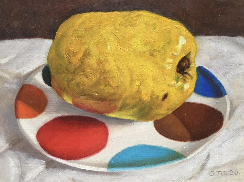 016, 모과6, 24 x 18 cm, oil on canvas, 202