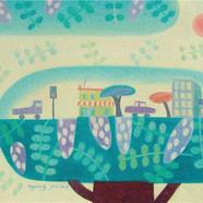 012, 아카시 마을.60×50.oil on canvas.2009.jpg