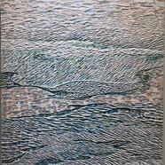 001, 김재신, 바다, 53 x 73 cm (20호), 나무판 위에 색 조각, 2019, 800만원