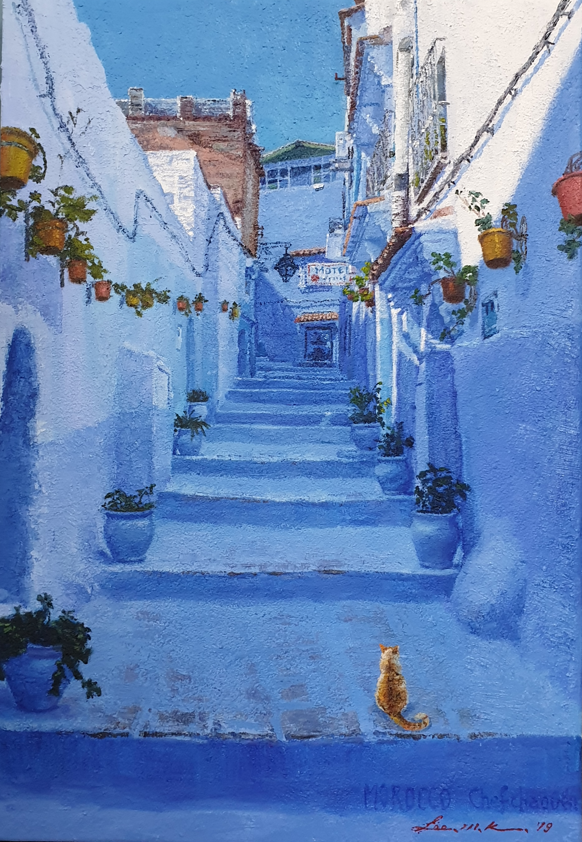 002, 이미경2, 모로코의 파란마을 쉐프샤우엔, 37 x 53 cm (
