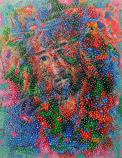 이경성, Thorn tree_Jesus, 41 x 53cm, 소멸기법, 2017