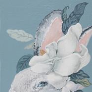 023, 박계숙, 나르시스의 정원-9, 23 x 34 cm, 캔버스에 아