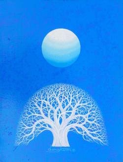 日出-信望愛, 31.8x40.9cm, Acrylic on canvas,2012