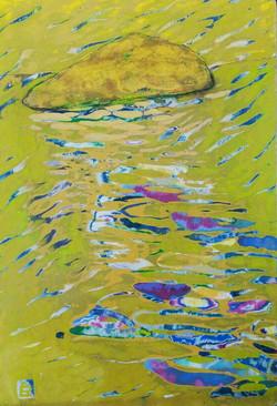 섬과 바다-2, 25x,35cm, , 혼합재료, 2016
